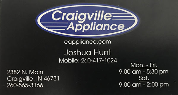 Craigville Appliance