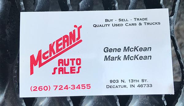 McKeans Auto Sales